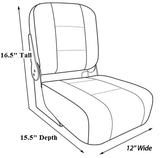 "12"" Hinge Mounted Boat Seats"