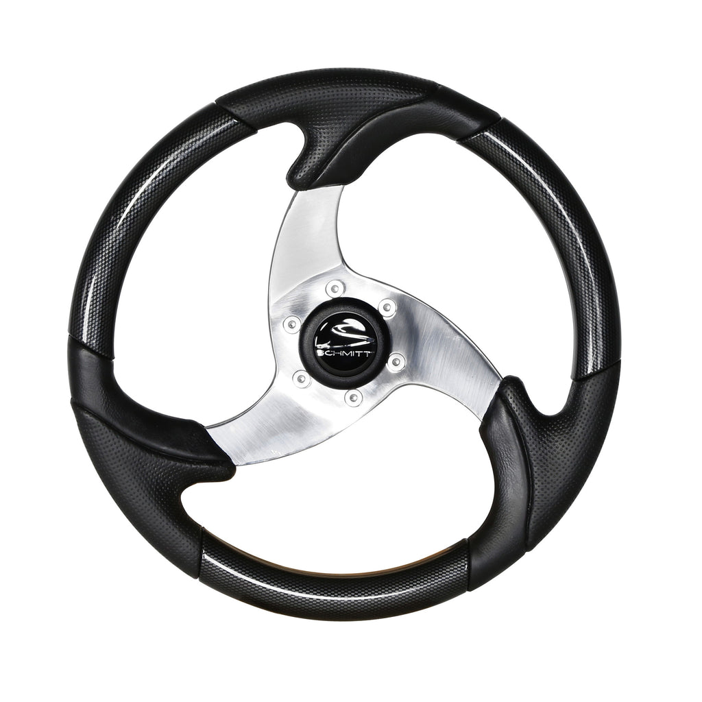 "15"" Black Bass Boat Steering Wheel"