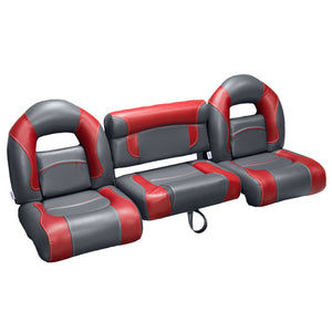 Charcoal & Red Bass Boat Seats