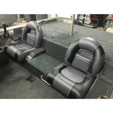 Charcoal & Black Bass Boat Seats