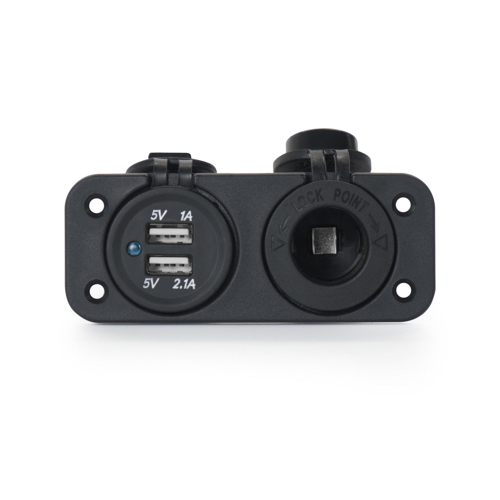 Bass Boat Dual USB & Power Socket