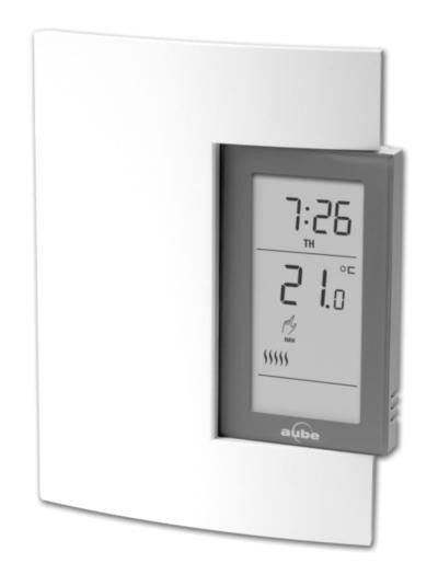 Thermostat électronique Aube 24V bas voltage programmable