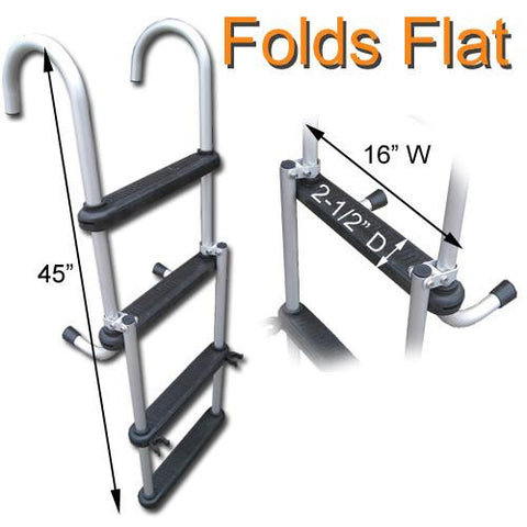 Folding Pontoon Boat Ladders (Flush Mount Quick Release)