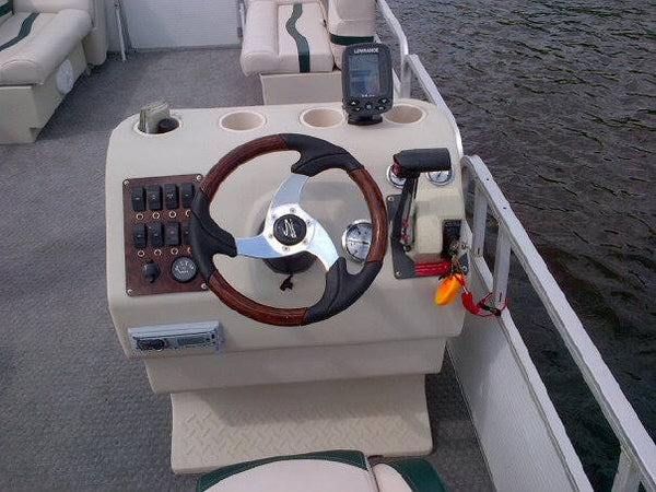 Pontoon boat steering stand overhaul