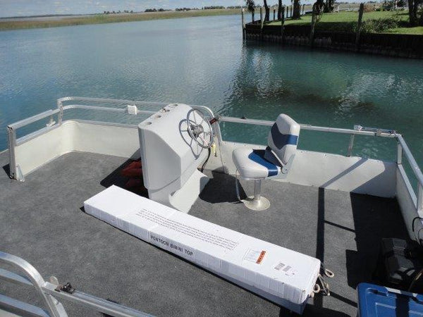 Updating pontoon boat console and bimini top
