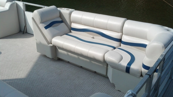 Replacing pontoon boat seats on a JC pontoon boat.