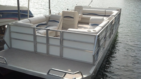 Replacing pontoon furniture on JC pontoon boat