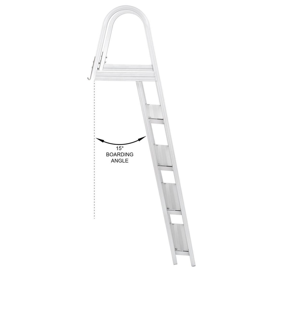 5 Step Pontoon Boat Ladders Large Handrails And Steps