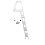 5 Step Pontoon Boat Ladders [Large Handrails and Steps]