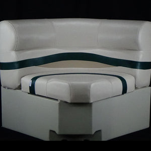 "Clearance Premium 30"" Bow Radius Seat Ivory/Green/Tan CL-2115 Small Tear on back cushion"