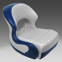 Gray & Blue Pontoon Boat Seats