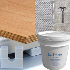 Pontoon Deck Kit w/ Woven Vinyl Flooring ((Plywood Currently Unavailable)