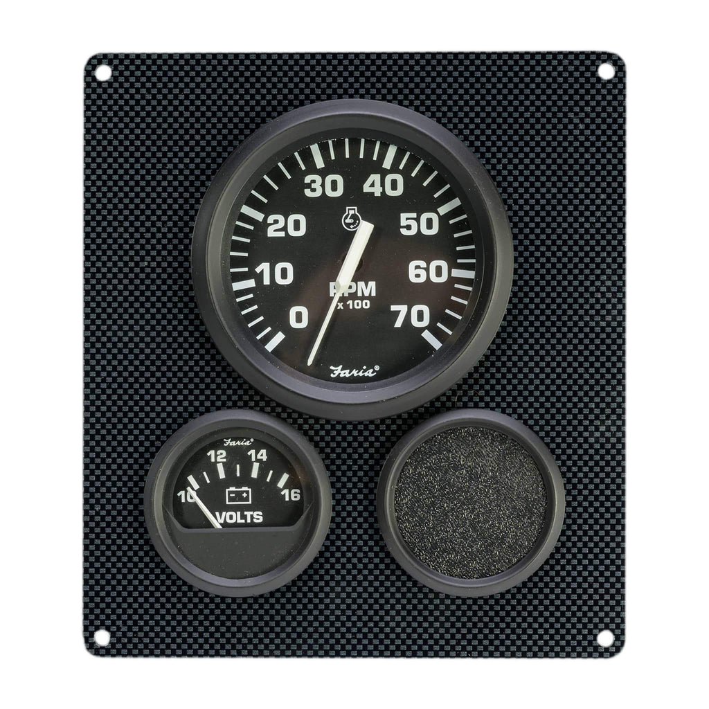 Carbon Fiber Pontoon Boat Gauge Panel