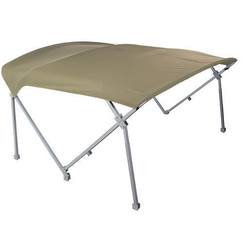Beige heavy duty pontoon boat tops 8x10