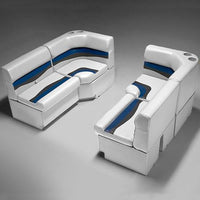 Gray, Blue & Charcoal Pontoon Boat Furniture