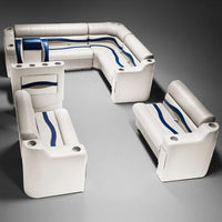 boat seats dg1566 ivory and blue seating