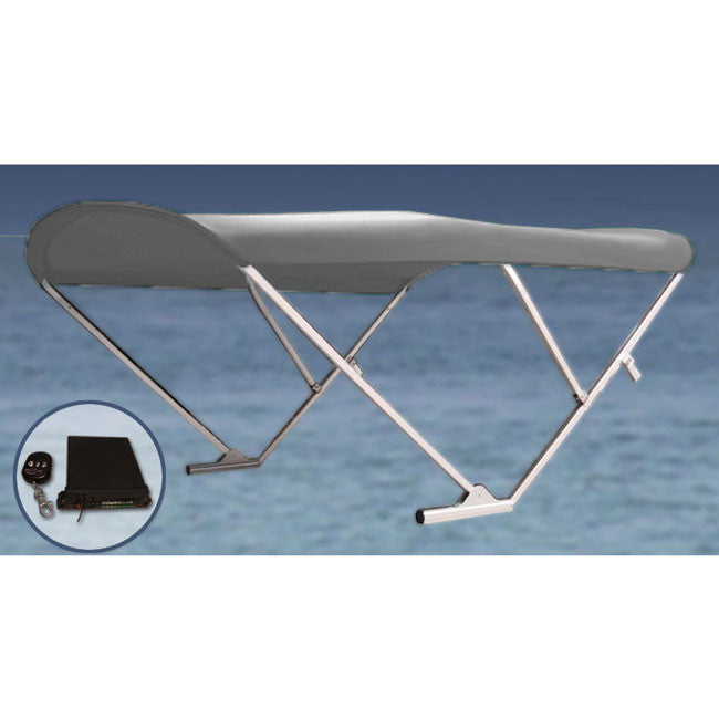 Gray Powered Pontoon Boat Top