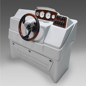 Large premium pontoon boat console Gray