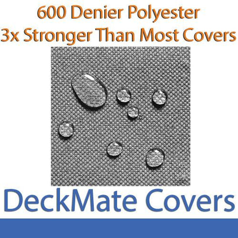 26' - 28' Gray Pontoon Boat Covers