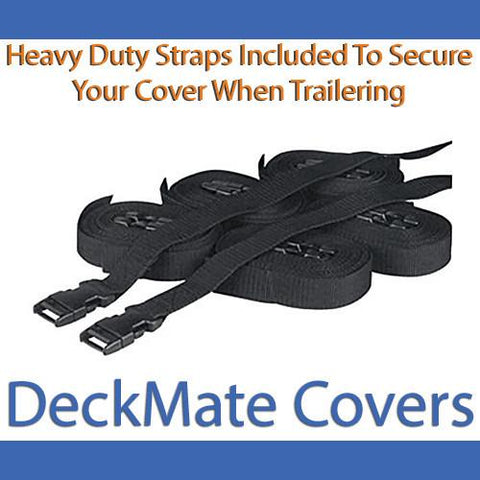 24' - 26' Gray Pontoon Boat Covers