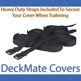 Pontoon covers come with plenty of straps