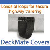 Tie down straps sewn into each pontoon cover