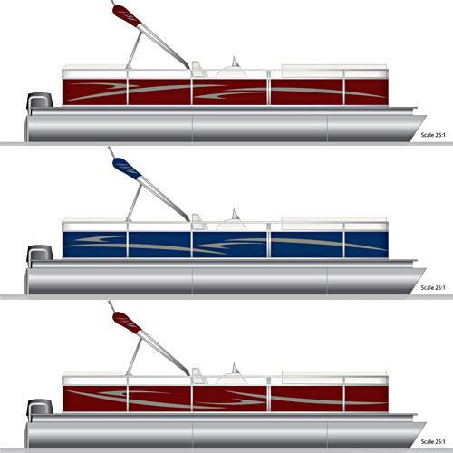 Pontoon Graphics Decal Kit PontoonStuffcom - Decals for pontoon boats