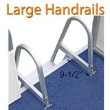 Large ladder handrails for easy boarding