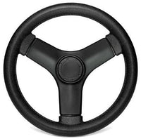 Black Pontoon Steering Wheel