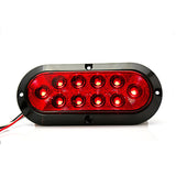 "6"" Red Oval Pontoon Trailer Light"