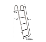 Stern Entry Pontoon Ladder (Stainless Steel)