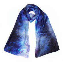 Load image into Gallery viewer, Celestial Designer Silk Scarf - Pure Huntress