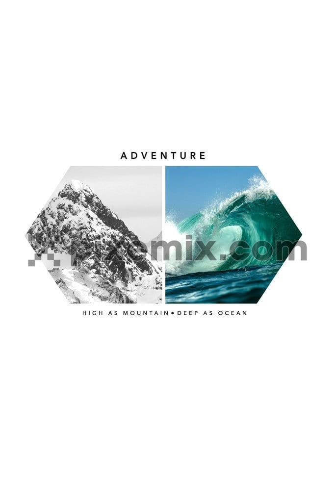 Outdoor adventure digital product graphic