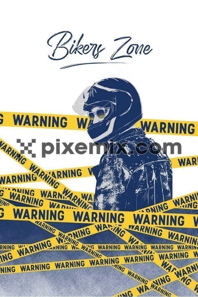 Biker zone motorcycling placement product graphic