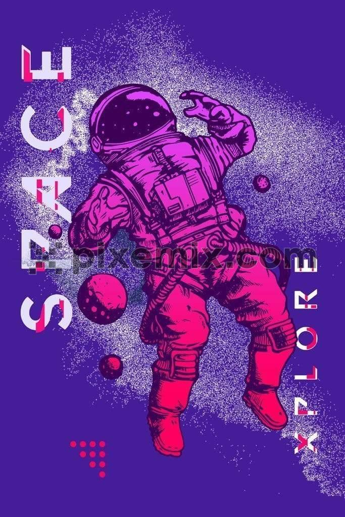 Astronaut space explorer product graphic