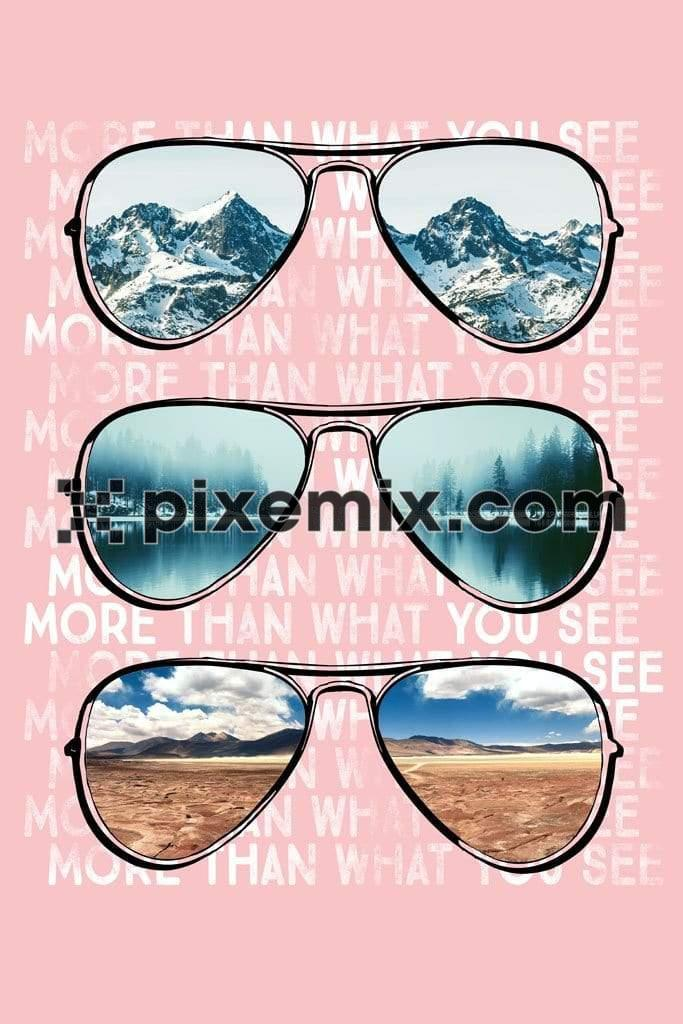 Holiday inspired outdoor aviator sunglasses digital product graphic