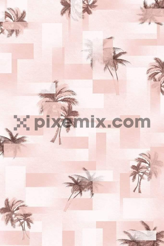 Abstarct palm tree pattern product graphic
