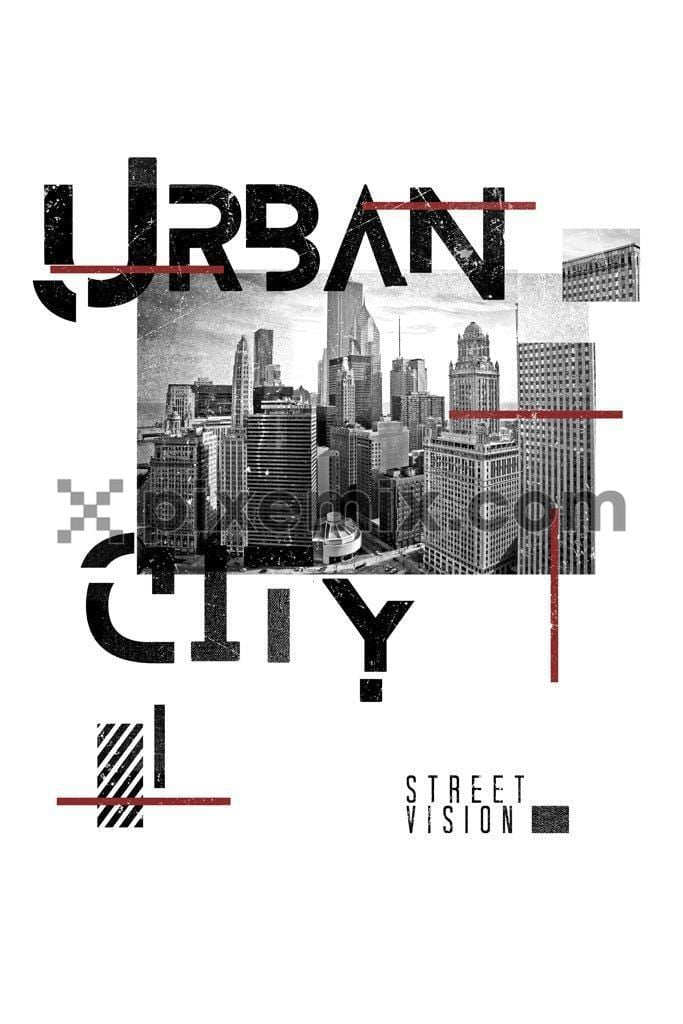 Urban city product graphic