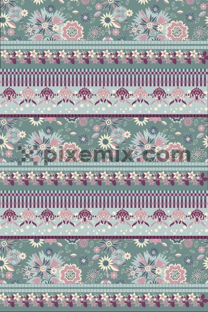 Flower stripe pattern product graphic