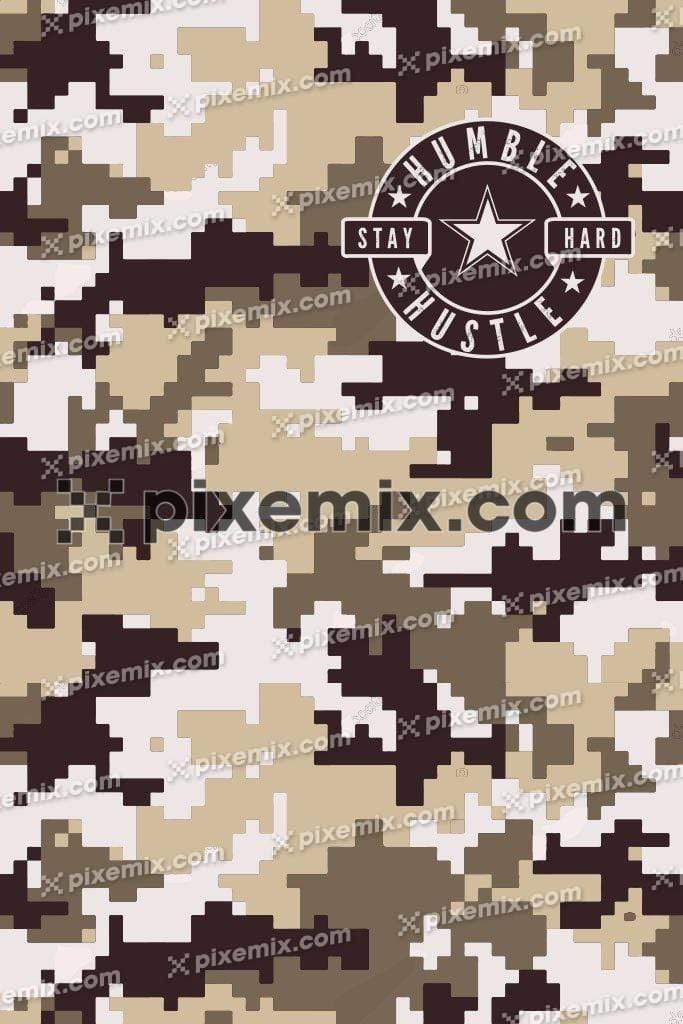 Abstract geometric camouflage pattern product graphic  with patch