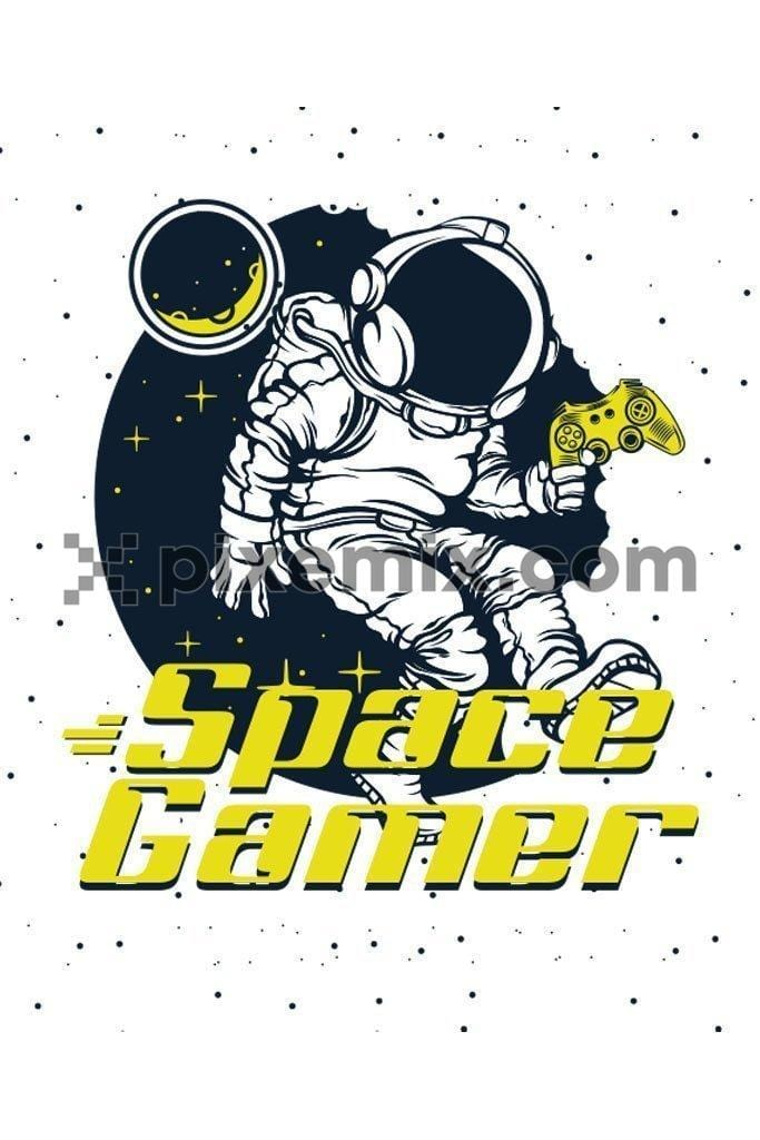 Space gamer vector product graphic