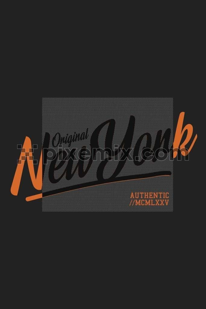 New york modern typography  vector product graphic
