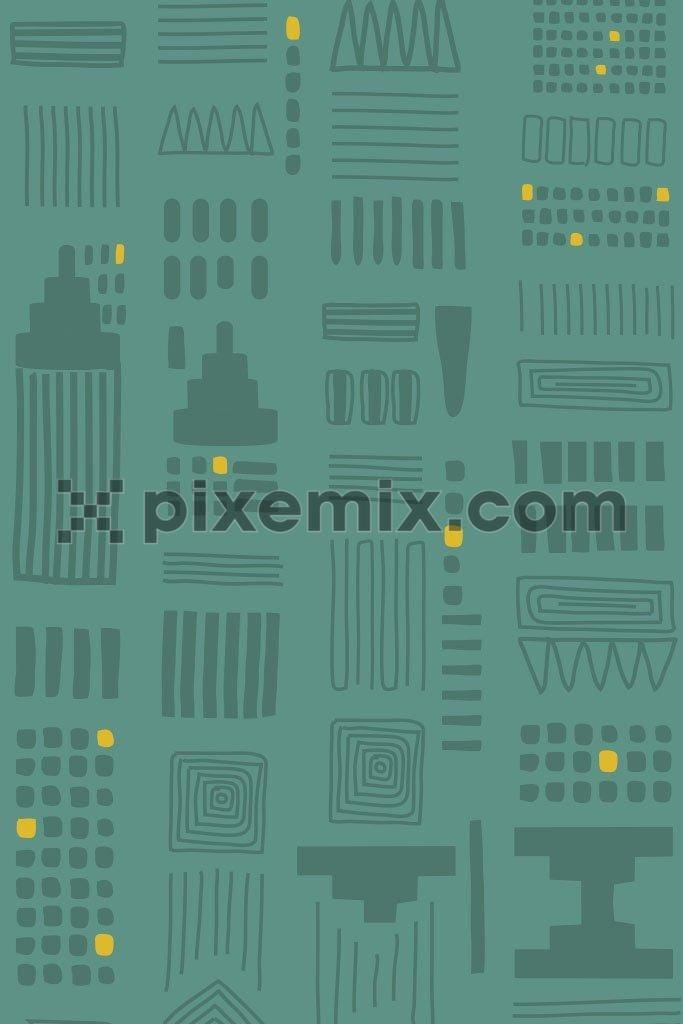 Abstract city vector pattern product graphic