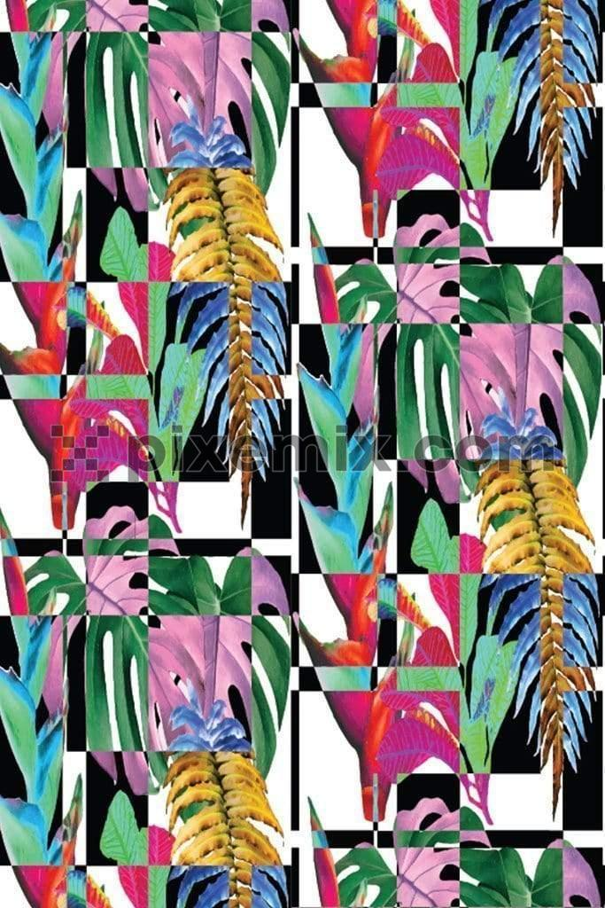 Digital abstract tropical pattern product graphic