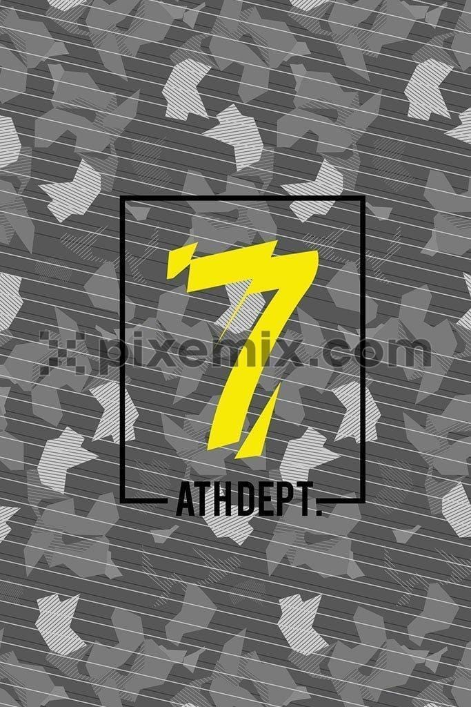 Camouflage with number vector product graphic