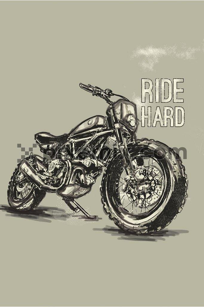 Vintage custom motorcycle motorbike caferacer product graphic