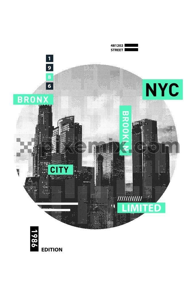 Brooklyn city modern vector product graphic