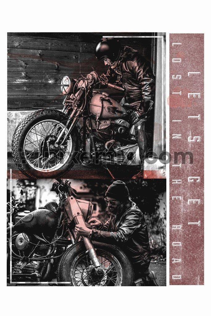 Motorbike love lost in the road product graphic