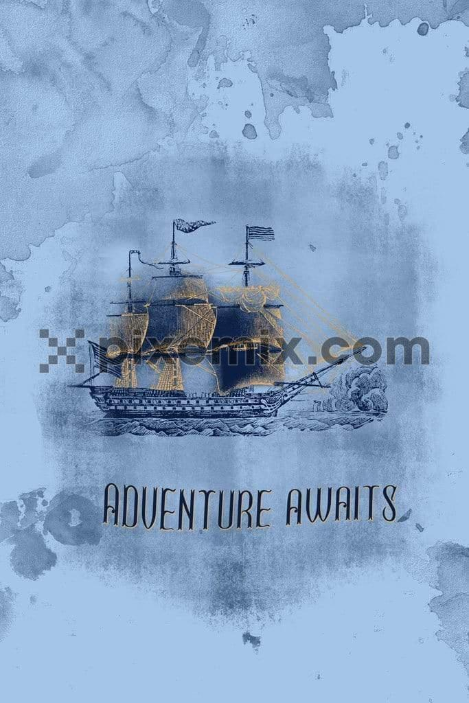 Pirate adventure ship product graphic