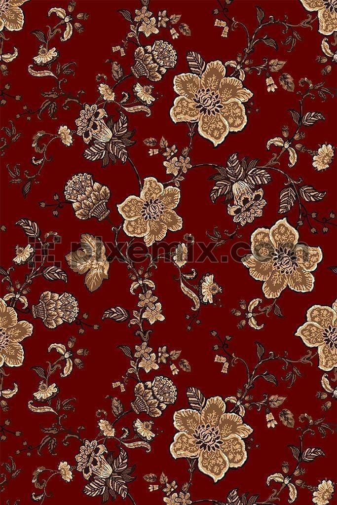 Intricate floral vector pattern product graphic